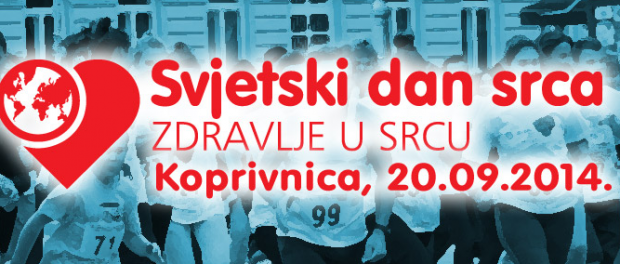 Obilježavanje svjetskog dana srca – Koprivnica 2014
